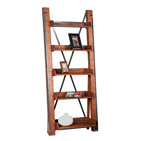 Industrial Bookcase With Ladder by Model 33200 Industrial Open Shelf Ladder Bookcase 1 33200k
