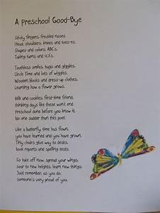 pre k graduation themes preschool bye quot poem i will