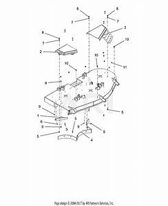 Ariens 915219  000101 -   Ikon-xl 60 Parts Diagram For Belt Covers And Baffles