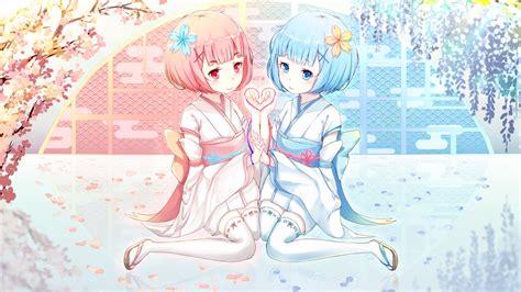 wallpaper ram rem rezero hd anime