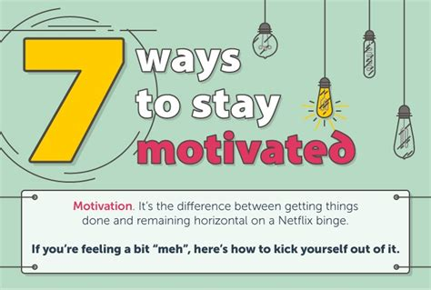 ways  stay motivated  work venngage infographic
