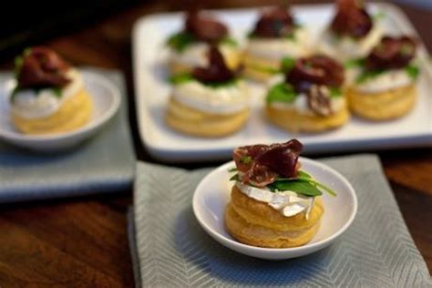 canape recipes to freeze warm goat cheese and smoked duck canapés appetizer