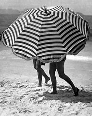 Black and White Umbrellas