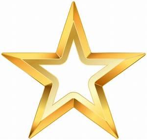 Gold star transparent clip art image - Clipartix