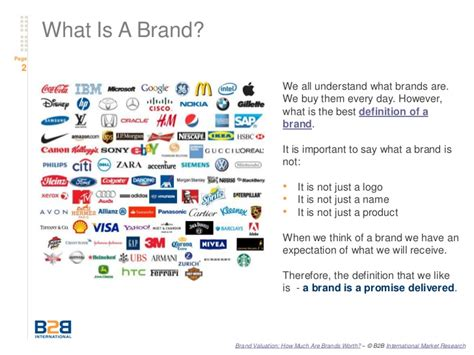 Brand Valuation  How Much Is A Brand Worth?