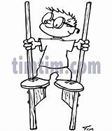 Stilts Drawing Timtim Parents Coloring Drawings sketch template