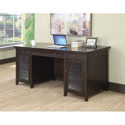 desk l with outlet coaster computer desk with power outlet in dark brown 801097