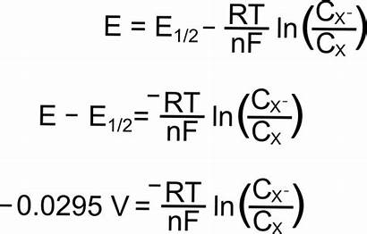 Values Equation Nernst Rearrange Plugging Known Reduction