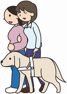 Clipart - Blind / visually impaired woman with a friend ...