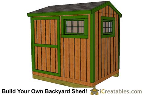 6x8 Storage Shed Plans by Icreatables 16x24 Shed Materials List Studio Design