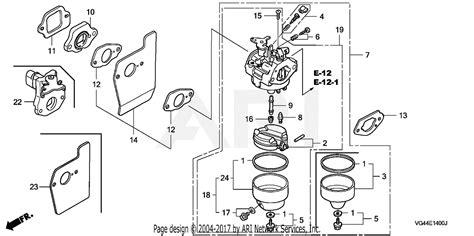 Honda Carb Diagram Cleaning by Honda Hrt216 S3da Lawn Mower Usa Vin Mzcg 6000001 To