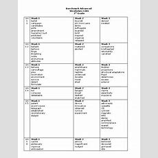 Benchmark Advance 3rd Grade Vocabulary List By Jacquelyn Chapman
