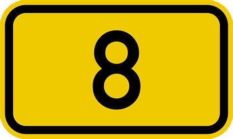 Bundesstraße 8 Number.svg