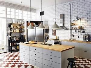 Cuisine Deco Industrielle : cuisine style industriel ikea ~ Carolinahurricanesstore.com Idées de Décoration