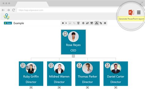 org chart software orgweaver create edit  share  org charts