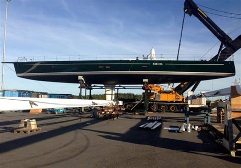 Yacht Work by Baltic Yachts Working On Refit Of Wally Superyacht Nariida