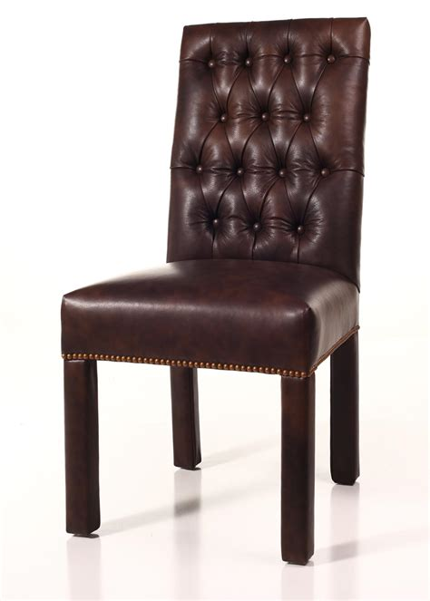Custom Slipcovers Parsons Chairs by Leather Tufted Back Parsons Chair
