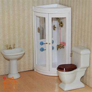 112 doll house furniture mini cabin bathroom shower toy for Play 1 bathroom