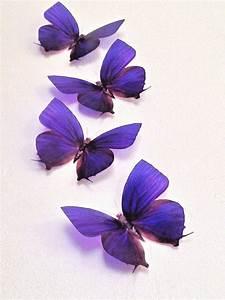 4 Cadbury Purple In Flight 3d Butterflies Wedding    Home