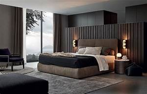 20 modern contemporary masculine bedroom designs for Kitchen cabinet trends 2018 combined with nappe en papier