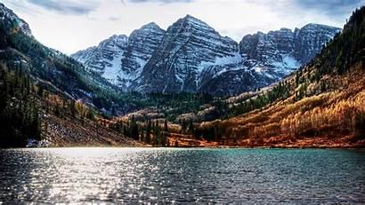 Colorado Mountain Mountains Snow Water Trees Nature