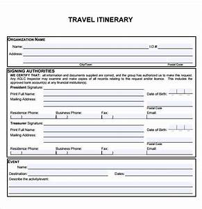 sample of itinerary form baskanidaico With blank trip itinerary template
