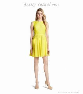 yellow dress for a june wedding With dressy casual dresses for wedding