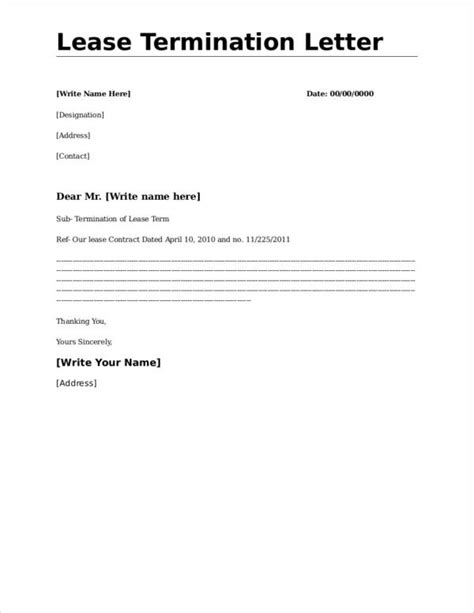 termination  lease agreement letter hrsport
