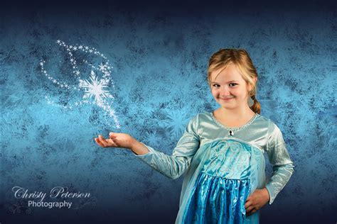 Elsa Background Blue Frozen Inspired Digital Background For Elsa