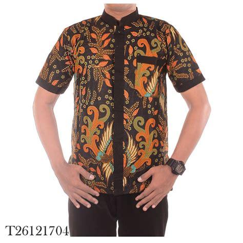 jual baju koko baju muslim pria kombinasi batik ramadhan