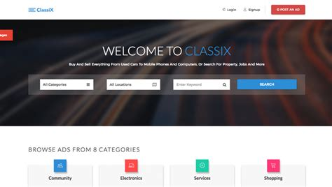 Best Listing Websites 10 Best Free Classified Ads And Listing Website Templates