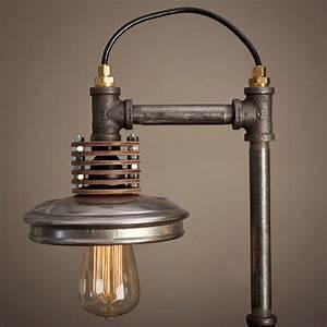 Lampe Aus Kupferrohr : iron pipe lamp with wood base basteln objekte lampen beleuchtung und m bel ~ Frokenaadalensverden.com Haus und Dekorationen