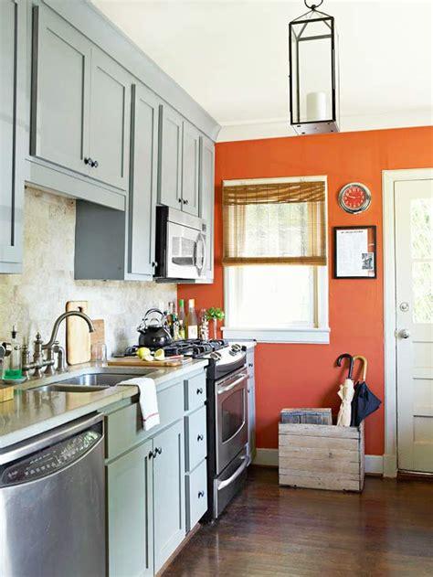 orange kitchens ideas kitchen ideas on a budget orange accent walls blue