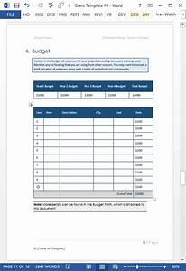 Grant Proposal Template  Ms Word  Excel   U2013 Templates  Forms  Checklists For Ms Office And Apple Iwork