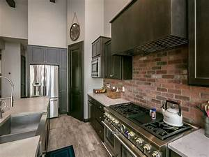 47 brick kitchen design ideas tile backsplash accent With what kind of paint to use on kitchen cabinets for vintage industrial wall art