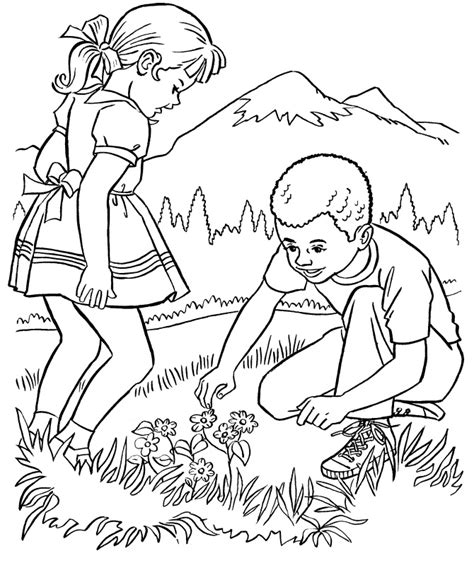 nature coloring pages kids  nature coloringstar
