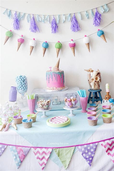kids ice cream birthday party themed birthday parties