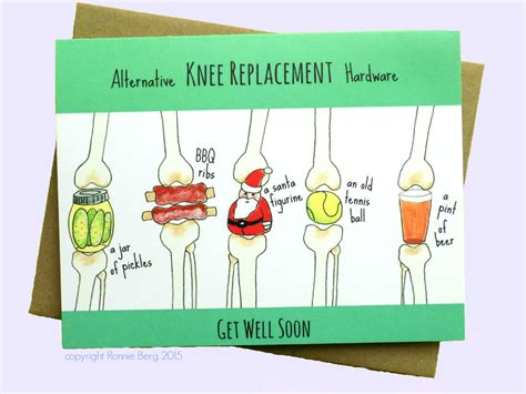 knee replacement funny   card knee surgery  bangsandteeth