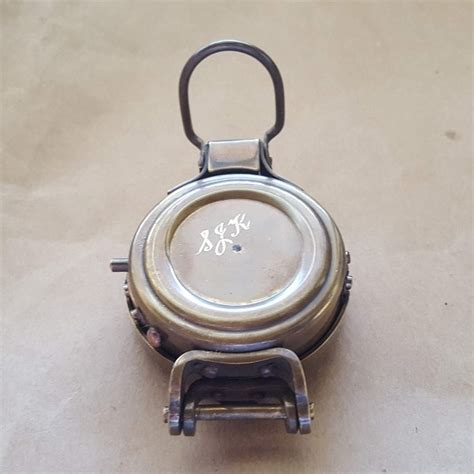 brass compass engineers  wwii style engraved  names    australia