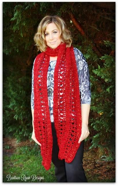 Scarf Super Jewel Pattern September Crochet Scarves