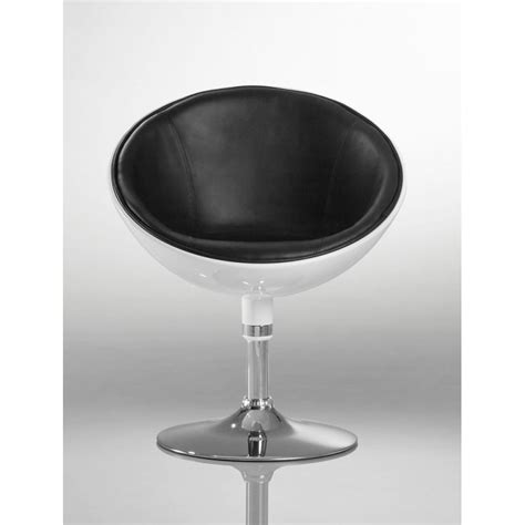 bureau blanc et noir fauteuil oeuf design cuir pu chaise bureau blanc et noir