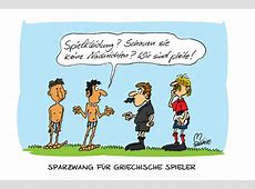 WMCartoon Griechenland Cartoon, Karikatur, Fußball