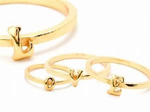 alphabet stackable rings jewelery pinterest With stackable letter rings