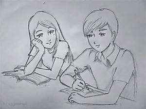 12 Model best cute love sketches | Cute Couple Drawings ...