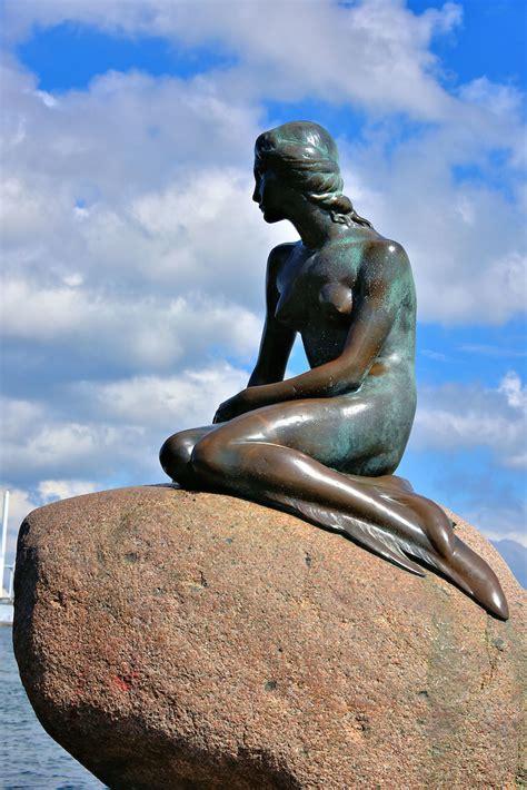 mermaid statue  copenhagen denmark encircle
