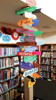 Decorating Books For School by Book Places Signpost At Land O Lakes Library Library