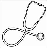Stethoscope Clip Medical Medicine Drawing Clipart Technology Template Coloring Pages Abcteach Sketch sketch template