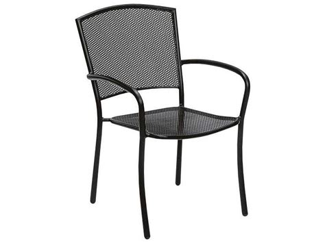 woodard albion wrought iron dining chair in textured black