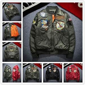 2017 New Nasa Bomber Jacket Men Ma 1 Flight Jacket Pilot ...