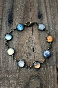 Solar System Bracelet - Milky Way Galaxy, Planet Jewelry ...
